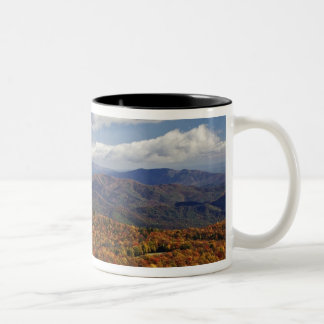 Autumn view of Southern Appalachian Mountains Two-Tone Coffee Mug