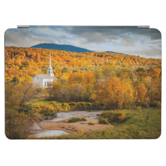 Autumn View Of The Community Church In Stowe iPad Air Cover