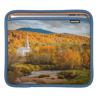 Autumn View Of The Community Church In Stowe iPad Sleeves