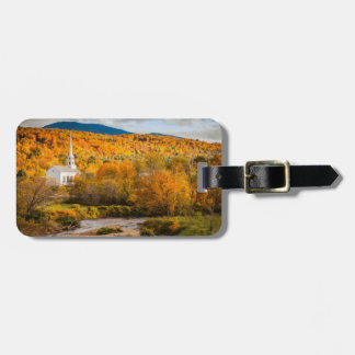 Autumn View Of The Community Church In Stowe Luggage Tag
