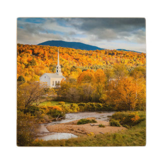 Autumn View Of The Community Church In Stowe Wood Coaster