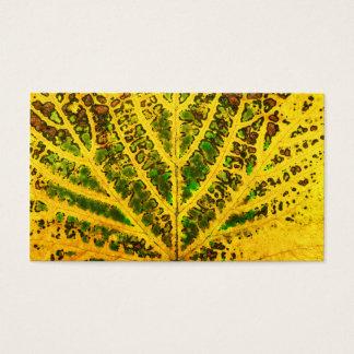 autumn vine leaf texture pattern plant nature business card