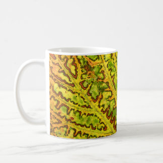 autumn vine leaf texture pattern plant nature coffee mug