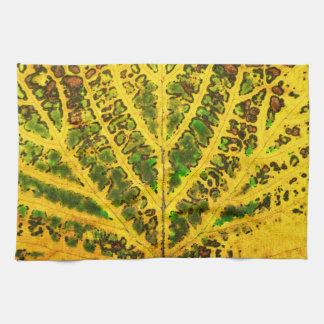autumn vine leaf texture pattern plant nature tea towel
