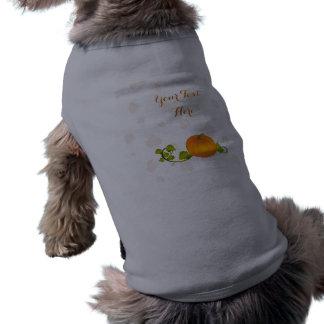 Autumn Vine Pumpkin with Customizable Text Pet T Shirt