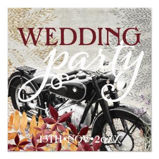 Autumn Vintage  Motorbike Wedding Invitations