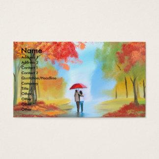 Autumn walk business card