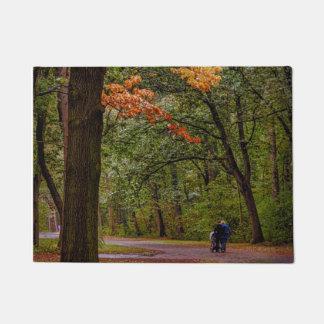 Autumn walk doormat