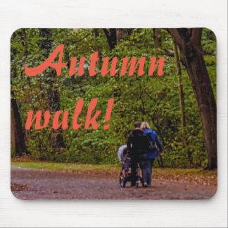 Autumn walk mouse mat