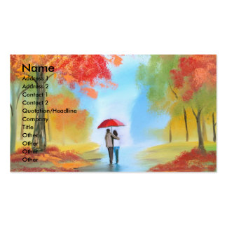 Autumn walk pack of standard business cards