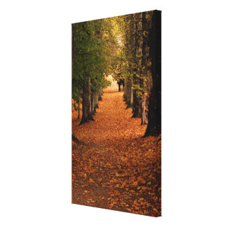 Autumn Walk Small Canvas Print
