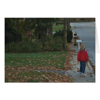Autumn Walk through the leaves of time Card