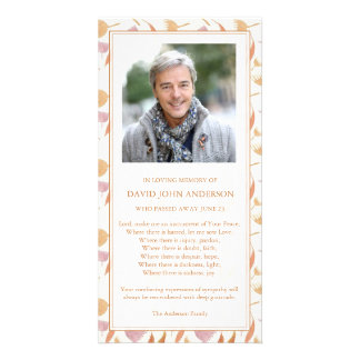 Autumn Warmth Funeral Sympathy Thank You Card