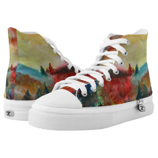 Autumn Watercolor Art Shoes