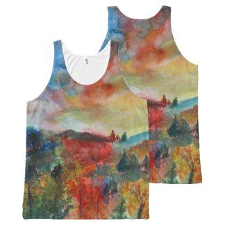 Autumn Watercolor Colors  Unisex Vest