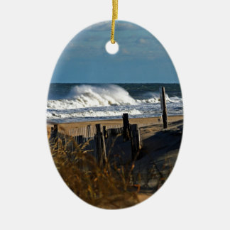 Autumn Waves and Dunes at the Beach Christmas Ornament