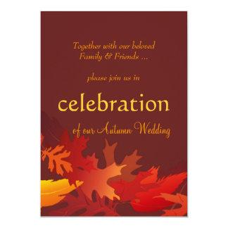 Autumn Wedding Invitations - Fall Leaves