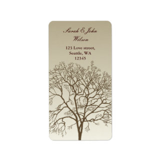 autumn wedding ,return address label