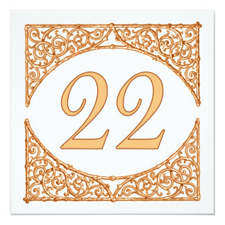 Autumn Wedding Rustic Wood Screen Table Number 22 13 Cm X 13 Cm Square Invitation Card