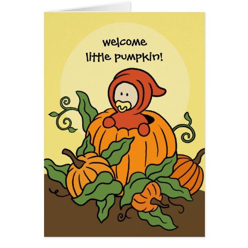 Autumn Welcome Little Pumpkin New Baby Card