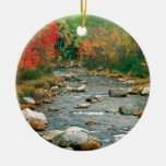 Autumn White Mountains New Hampshire Round Ceramic Decoration