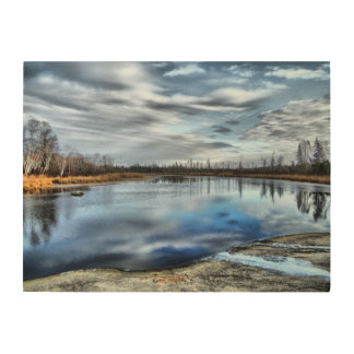 Autumn Whiteshell River Wood Panel