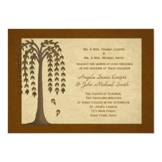 Autumn Willow Tree Wedding Invitation