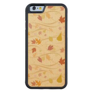 Autumn Wind Background Carved Maple iPhone 6 Bumper Case