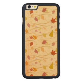 Autumn Wind Background Carved® Maple iPhone 6 Plus Case