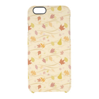 Autumn Wind Background Clear iPhone 6/6S Case