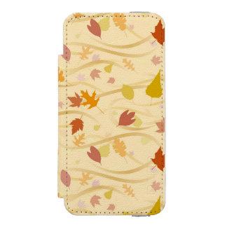 Autumn Wind Background Incipio Watson™ iPhone 5 Wallet Case