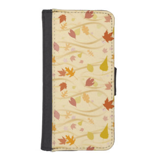 Autumn Wind Background iPhone SE/5/5s Wallet Case