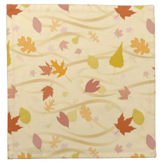 Autumn Wind Background Napkin