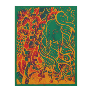 Autumn Wind Wood Canvases