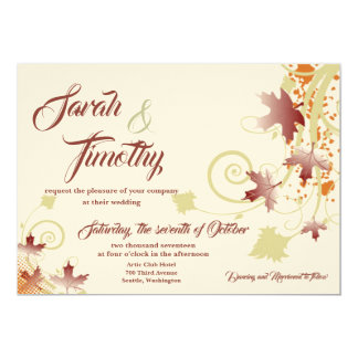 Autumn Wishes Wedding Invitation
