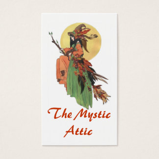 Autumn Witch Business Card
