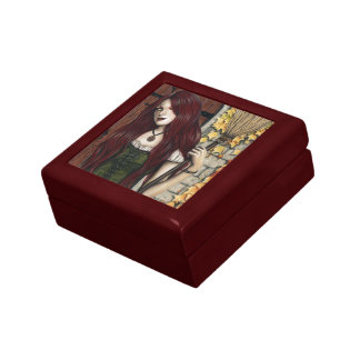 Autumn Witch Gothic Fantasy Art Keepsake Box