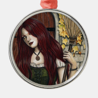 Autumn Witch Gothic Fantasy Art Ornament