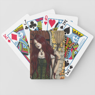 Autumn Witch Gothic Fantasy Art Playing Cards