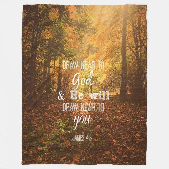 Autumn with Verse: Draw Near to God Fleece