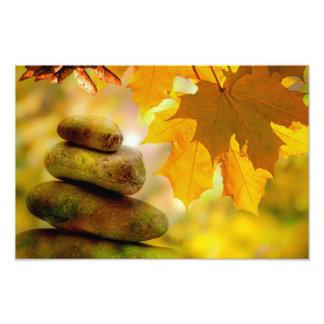 Autumn with Zen Meditation Rocks Photo Print