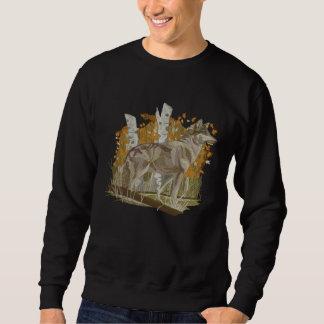 Autumn Wolf Embroidered Sweatshirt