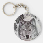 Autumn Wolfe pencil drawing Key Chains