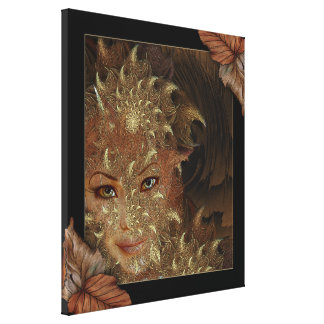 Autumn Wood Nymph Wrapped Canvas Art Stretched Canvas Print