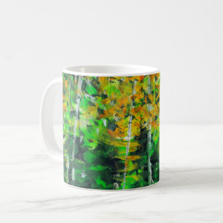"""Autumn Woodland"" Acrylic Art Coffee Mug"
