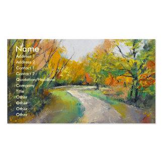 Autumn Woodland Path Business Card Template