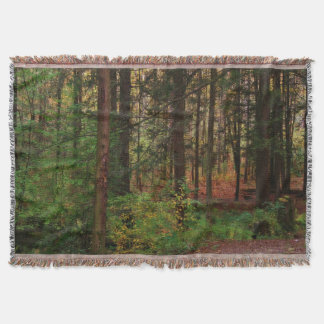 Autumn Woods Afghan Throw Blanket