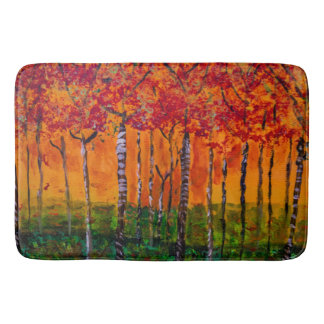 Autumn Woods Painting  - Bath Mat