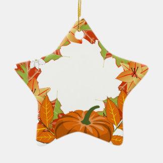 autumn wreath christmas ornament