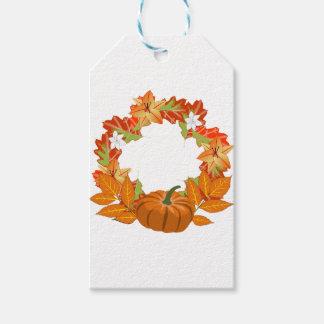 autumn wreath gift tags